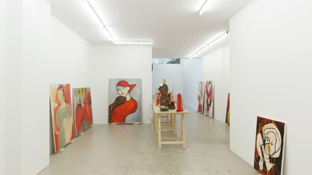 Marliz Frencken, Exhibition view: Marliz Frencken - Selection 1985 - 2017, Beware of a red painting, Ornis A. Gallery, Amsterdam, 2017