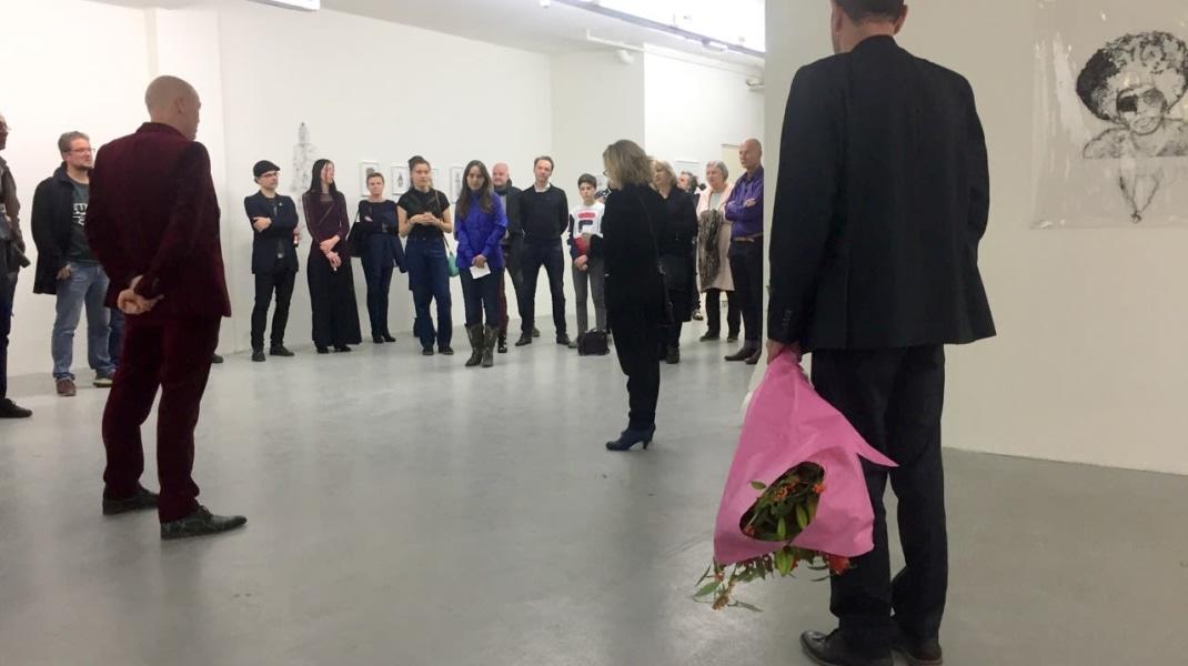 Saminte Ekeland, Openingswoord door  Anke Bangma, creatief directeur TENT. Witte de With, Centre for Contemporary Art Rotterdam, expositie Exhibition Lex Barbarorum december 2017