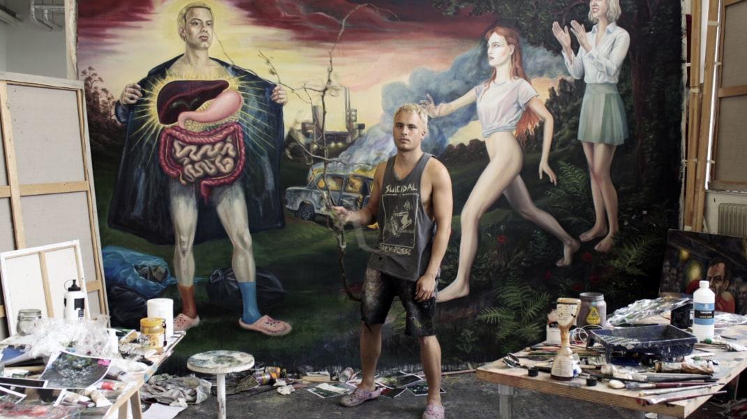 Sam Andrea, Sam Andrea in his Studio