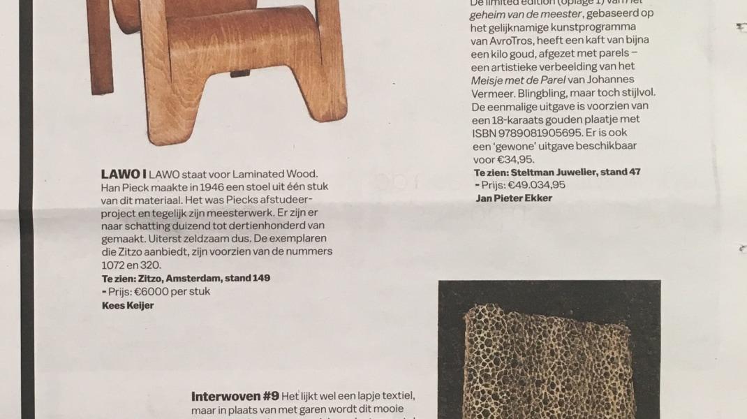 Diana Scherer, Het Parool, PAN Amsterdam favourites: Interwoven #9 by Diana Scherer, 18 November 2017.