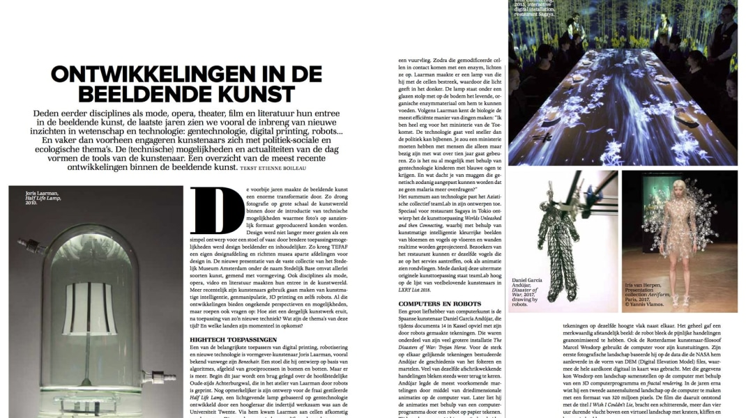 Marcel Wesdorp, Visual art development and technology. Artist-philosopher Marcel Wesdorp creates computer-based landscapes. Text by Etienne Boileau. LXRY Magazine 2018.