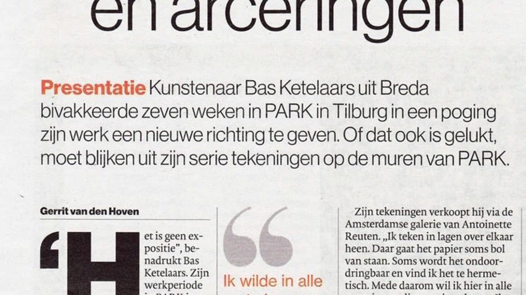 Bas Ketelaars, Presentatie Bas Ketelaars in PARK Tilburg