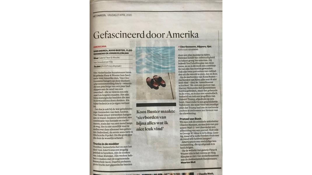 Cleo Goossens, Het Parool, April 17, 2020