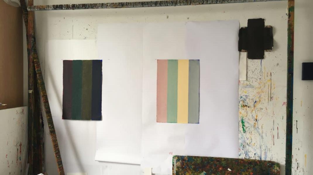 Ria Bosman, https://www.theartcouch.be/belgische-kunstenaars/geweven-tijd-de-imponerende-doeken-van-ria-bosman/  'Geweven tijd. De imponerende doeken van Ria Bosman.', Koen Van Damme, The Artcouch, May 2019