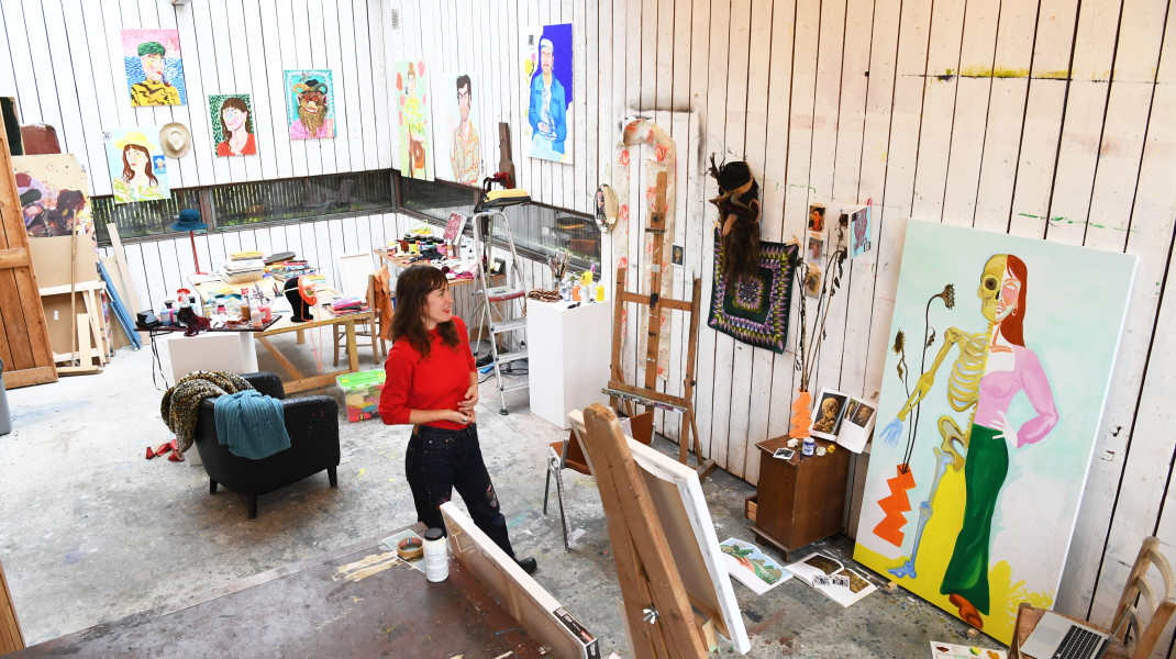 Carmen Schabracq, Carmen as an artist in residence in the guest studio of the Vincent van GoghHouse in Zundert.