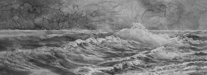 Hans Op de Beeck, On the Ocean (bright wave)