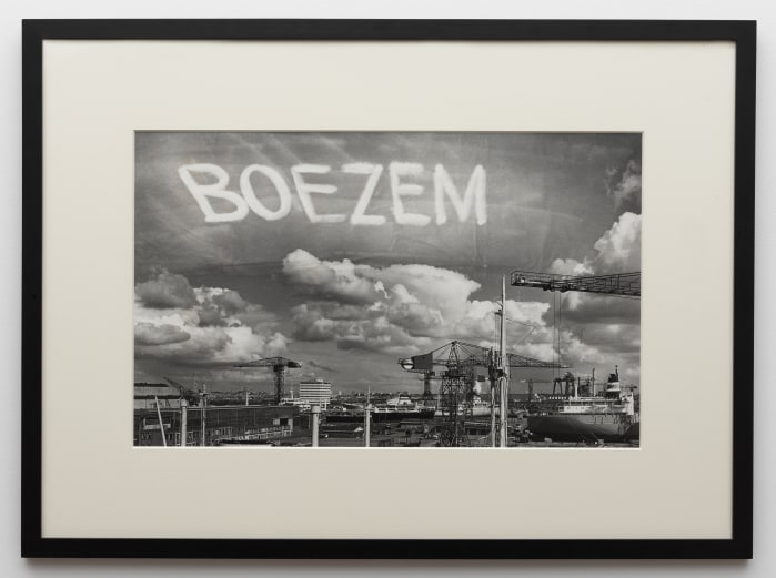 Marinus Boezem, Signing the Sky Above the Port of Amsterdam with an Aeroplane