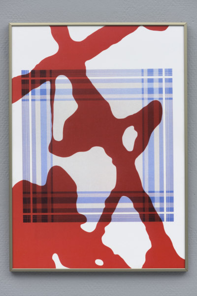 Daan van Golden, Study Pollock/Composition with Blue Square
