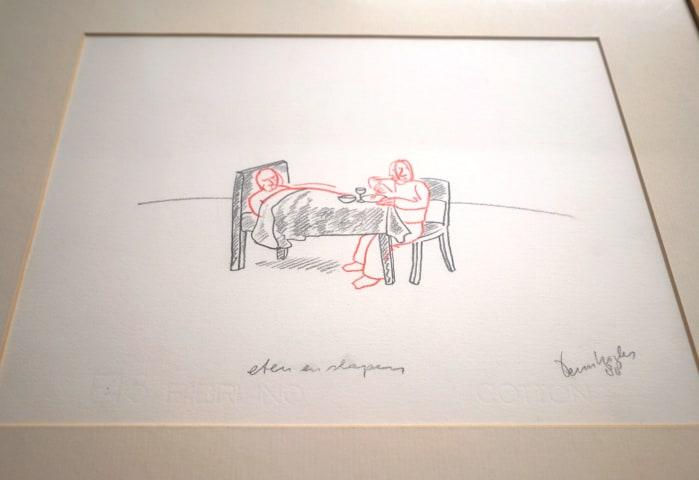Teun Hocks, Drawing: 'Eten & Slapen'