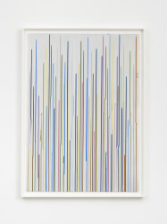 Ian Davenport, Staggered Lines: Mixolydian (Grey 1)