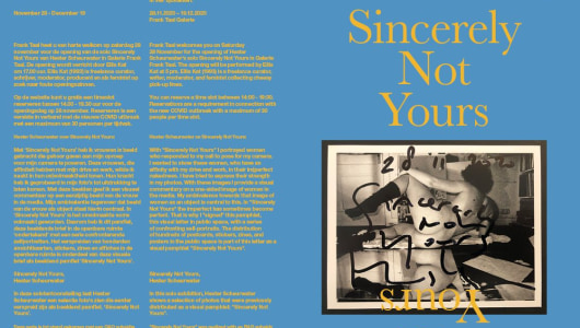 Sincerely Not Yours, Hester Scheurwater, Frank Taal Galerie