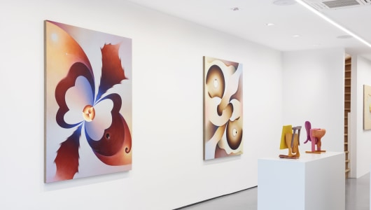 Romancing the Surface, curated by Loie Hollowell, Daniel Sinsel, Lui Shtini, Matthew Ronay, Thaddeus Mosley, Camille Henrot, Angela Heisch, Sascha Braunig, Louise Giovanelli, Loie Hollowell, GRIMM