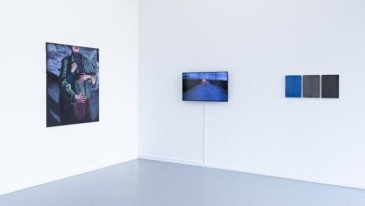 Groupshow, L'heure bleue Part I, Ilse D'Hollander, Bendt Eyckermans, Pieter Jennes, Karin Hanssen, Charline Tyberghein, Gallery Sofie Van de Velde