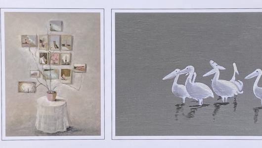 Painting Plant & Pelicans, Heske de Vries, Peter Redert, Cokkie Snoei