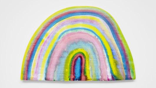 Rainbow paintings & Ceramics, Dan McCarthy, rodolphe janssen