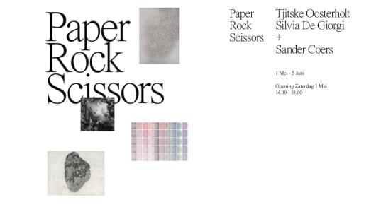 Paper, Rock Scissors, Sander Coers, Tjitske Oosterholt, Silvia De Giorgi, Contour Gallery