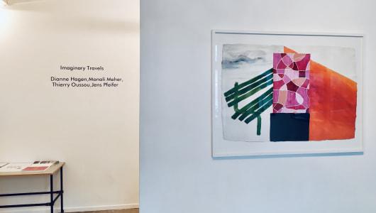 Imaginary Travels (Works on Paper), Thierry Oussou, Dianne Hagen, Monali Meher, Jens Pfeifer, Lumen Travo Galerie