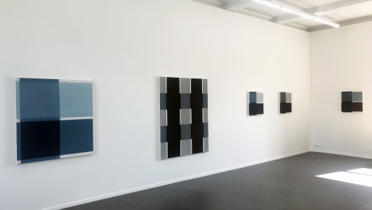 flat surfaces and spatial lines, Harry Markusse, René van den Bos, Anne Rose Regenboog, Galerie van den Berge