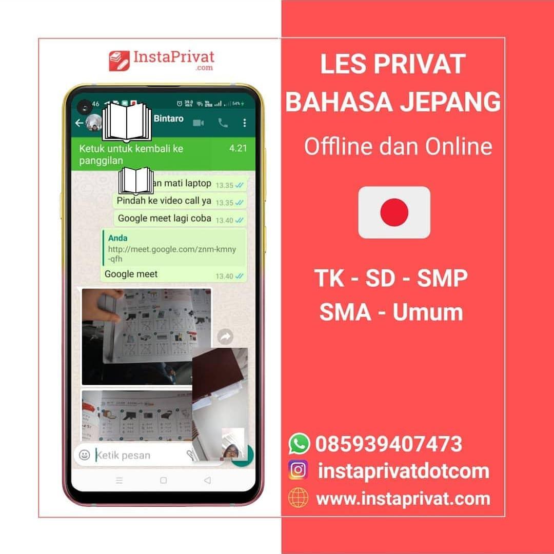 Les privat bahasa jepangdi Tangerang dan Bintaro offline dan online