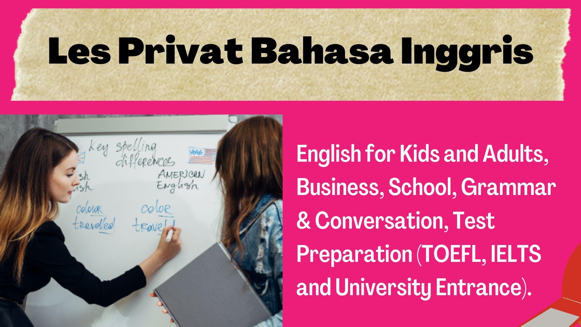 Les privat bahasa inggris grammar dan conversation di Tangerang