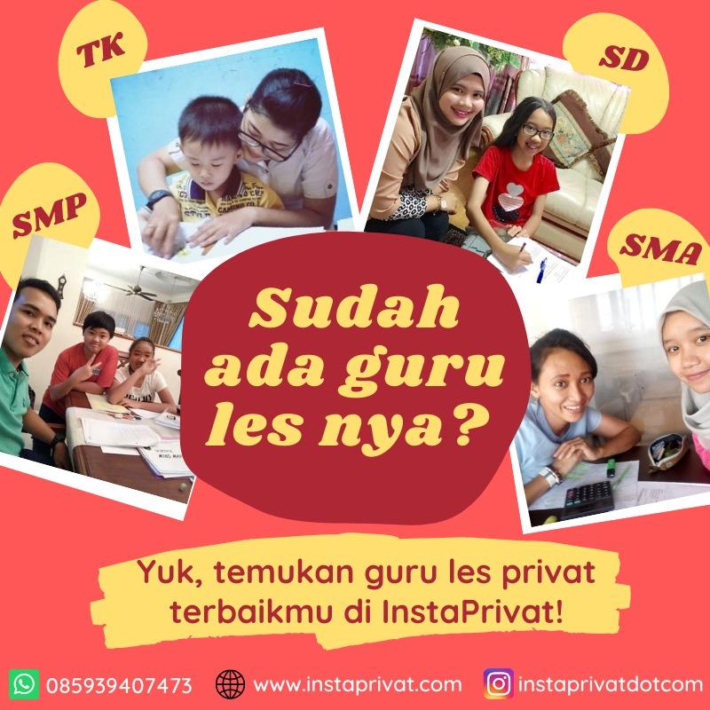 Pusat les privat matematika sd smp sma di Kota Bekasi biaya murah bangert guru bisa datang ke rumah atau online zoom