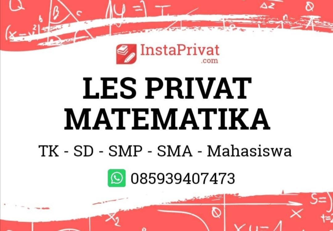 Les privat matematika di BSD, Serpong, Pamulang, Ciputat dan Bintaro biaya terjangkau guru pengalaman