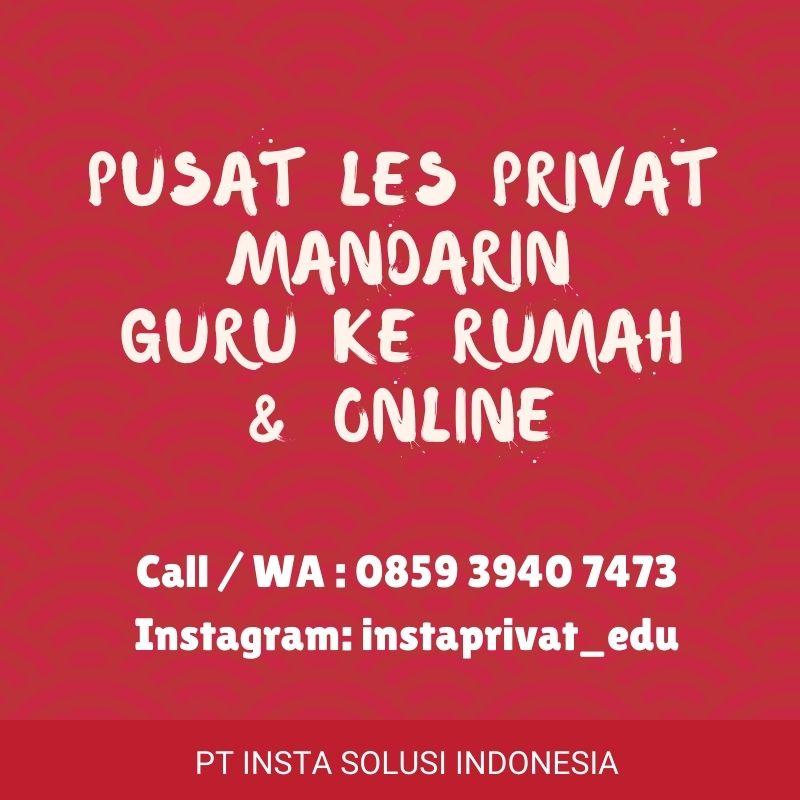Les privat Mandarin guru ke rumah di  BSD, Serpong, Gading Serpong, Bintaro & Karawaci