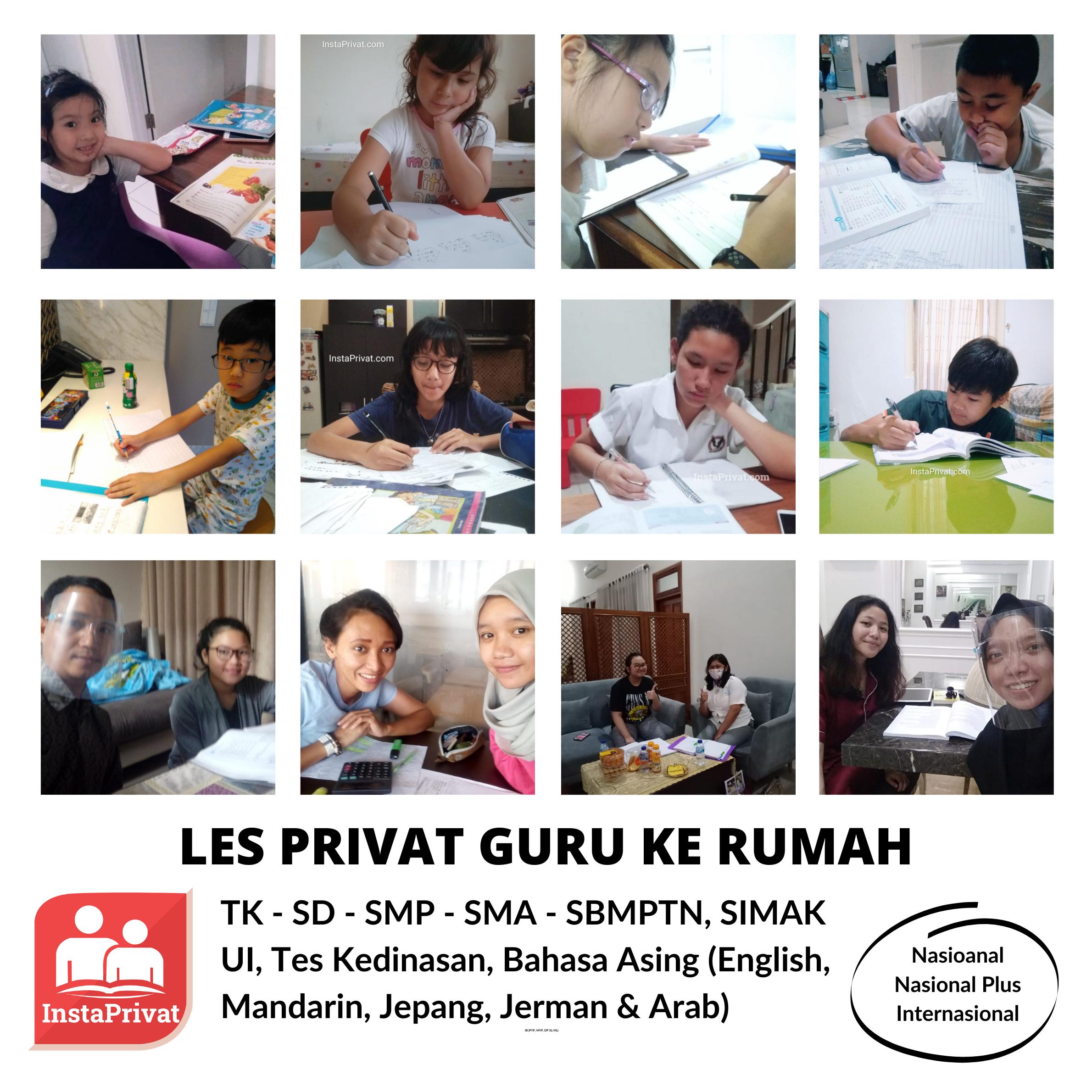 Les privat terbaik di jabodetabek guru ke rumah biaya termurah TK - SD - SMP - SMA - SBMPTN - Mahasiswa - Umum