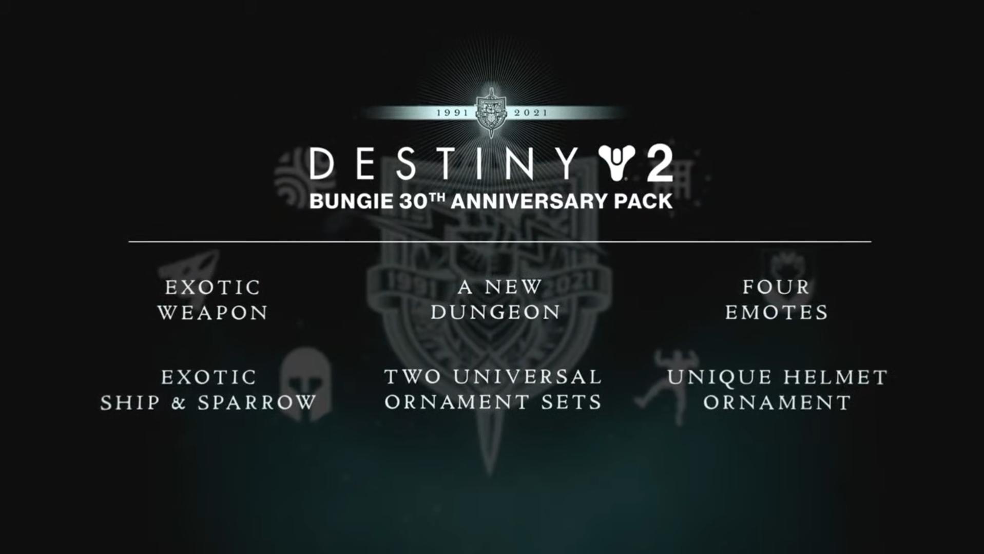 Bungie's Anniversary Pack