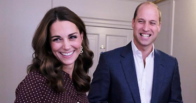 Кейт Миддлтон и принц Уильям замечены на прогулке с детьми
