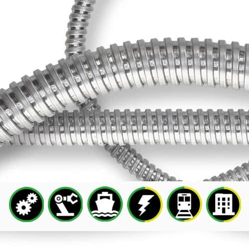 Skyddsslang INTERFLEX galvaniserad - levereras av C-Pro