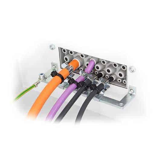 Kabelgenomföringsplatta KEL-DPZ-24_grå från icotek levereras av C-Pro
