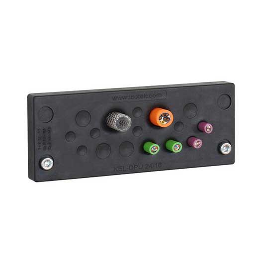 kabelgenomföringsplatta KEL-DPU-24_svart från icotek levereras av C-Pro