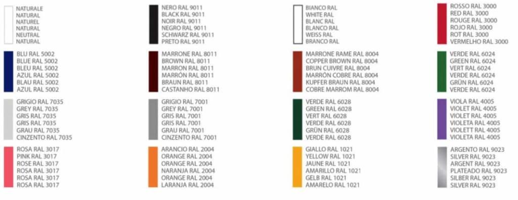 Buntband Färger