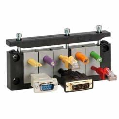 Kabelgenomföringsramar för kablar med kontakt