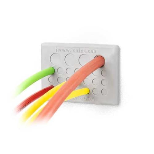 Kabelgenomföringsplatta KEL-DP-6-grå