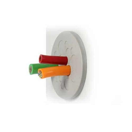 kabelgenomföringsplatta rund KEL-DP-rund-grå