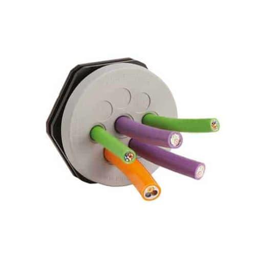 Kabelgenomföringsplatta Rund KEL-DPZ-Rund-Grå från icotek levereras av C-Pro