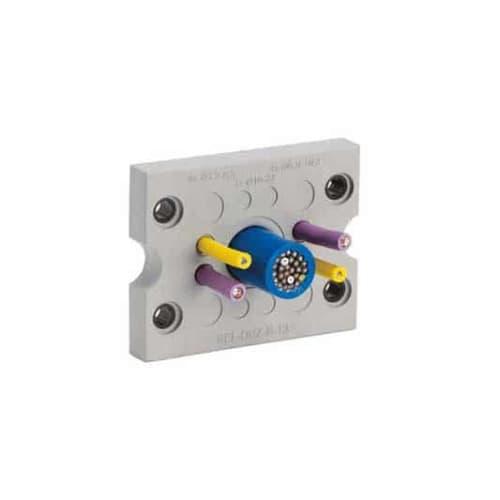 Kabelgenomföringsplatta KEL-DPZ-B-grå från c-pro levereras av C-Pro