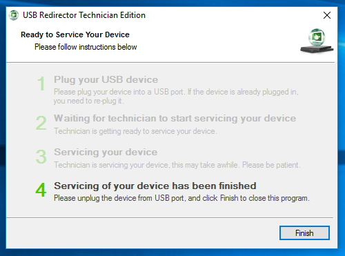 Once the USB redirector program is on the 4th and final step your FRP bypass is complete
