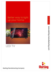 Sterling home LED TV broucher-min