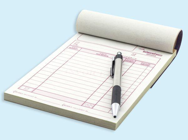 Glued NCR Invoice Pads & Company Docket Books