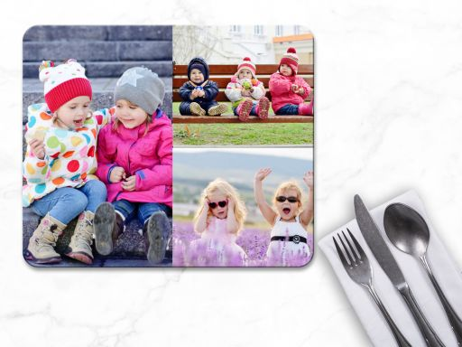 Personalised 3 Photo Collage Placemats