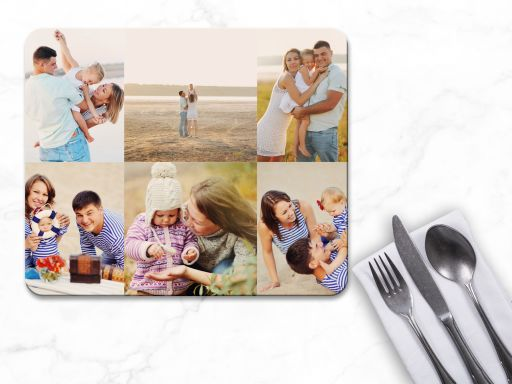 Personalised 6 Photo Collage Placemats