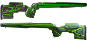 GRS Sporter Sauer 200 STR/SSG3000 LH, Black.Green