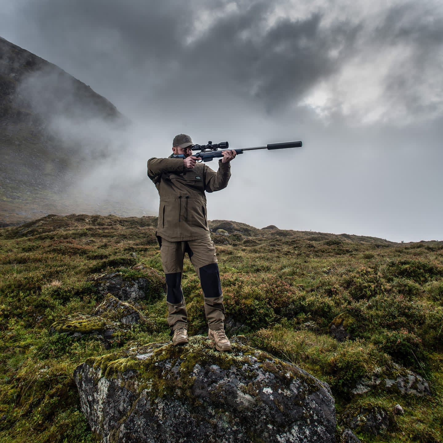 Photo of GRS founder, Oscar Haugen, hunting