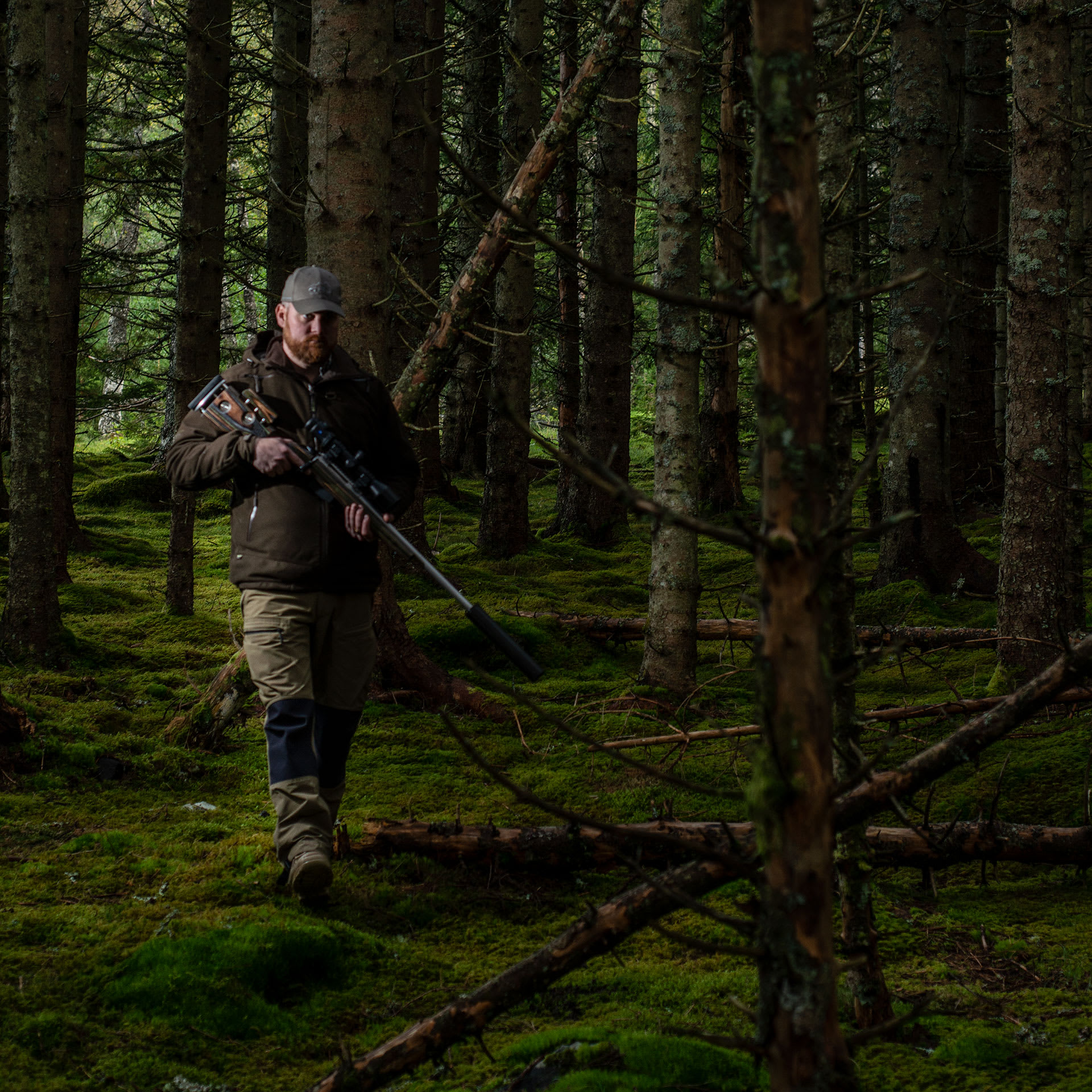 Photo of GRS Oscar Haugen Hunting in the woods of Norway, Hunter stock