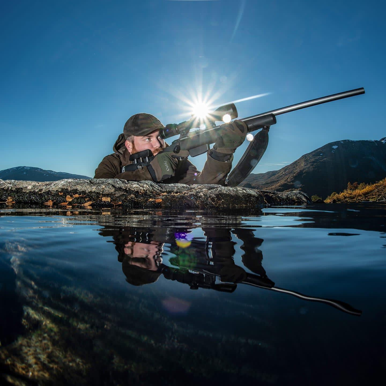 Photo of Oscar Haugen with GRS Berserk  full rifle
