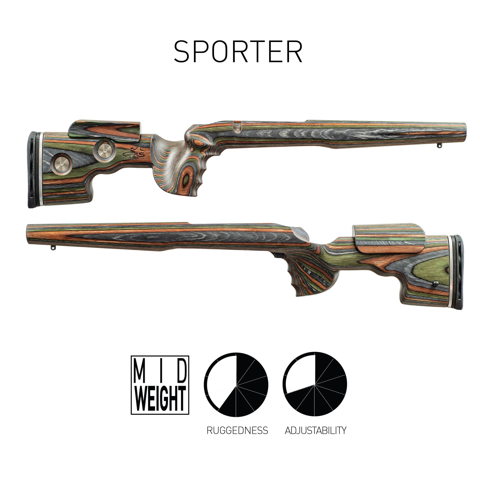 Photo of GRS Sporter, both sides, with rating