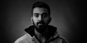 Black and white portrait photo of Indian cricket player K.L. Rahul, GamePlan A, adidas-cricket-K.L.-Rahul-mindset-business-What's-Your-Gameplan, career, mindset, motivation
